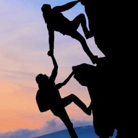 Wat betekenen de bergbeklimmers ?